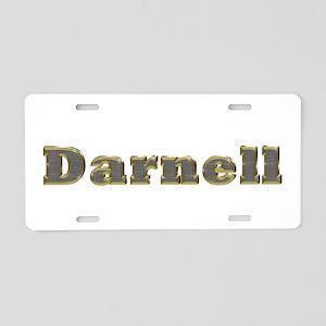 Darnell Gold Diamond Bling Aluminum License Plate