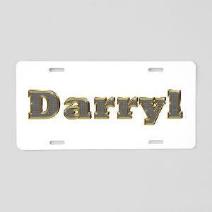 Darryl Gold Diamond Bling Aluminum License Plate