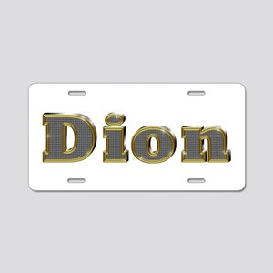 Dion Gold Diamond Bling Aluminum License Plate