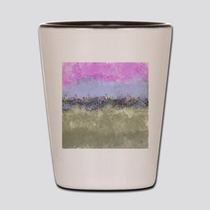 Pastel Abstract Garden Shot Glass