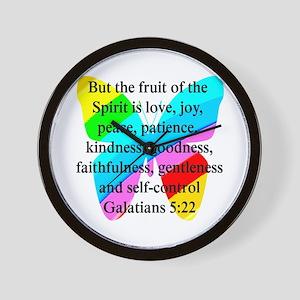 GALATIANS 5:22 Wall Clock