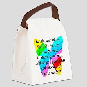 GALATIANS 5:22 Canvas Lunch Bag