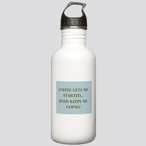 Coffee Gets Me Started Stainless Water Bottle 1.0l
