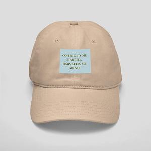 Coffee Gets Me Started Baseball Cap