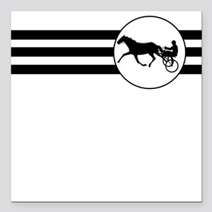 """Harness Racing Stripes Square Car Magnet 3"""" x 3"""""""