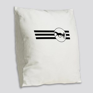 Harness Racing Stripes Burlap Throw Pillow