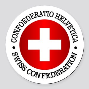 Swiss (rd) Round Car Magnet