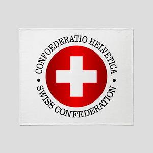 Swiss (rd) Throw Blanket