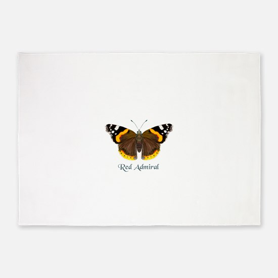 Red Admiral Butterfly watercolour Painting 5'x7'Ar