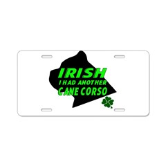 Irish Cane Corso Aluminum License Plate