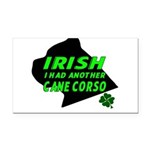 Irish Cane Corso Rectangle Car Magnet