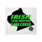 Irish Cane Corso Throw Blanket