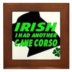 Irish Cane Corso Framed Tile
