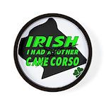 Irish Cane Corso Wall Clock
