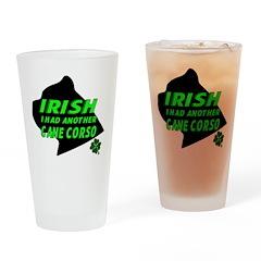 Irish Cane Corso Drinking Glass