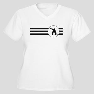 Snowboarder Stripes Plus Size T-Shirt