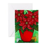 Poinsettia Christmas Greeting Cards (Pk of 20)