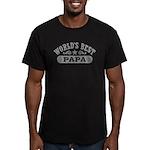 World's Best Papa Men's Fitted T-Shirt (dark)