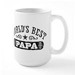 World's Best Papa Large Mug