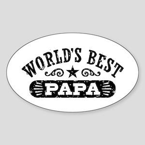 World's Best Papa Sticker (Oval)