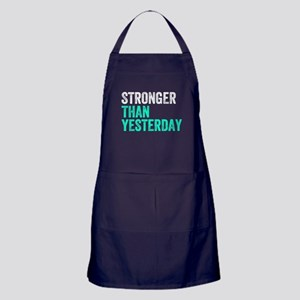 Stronger Than Yesterday Apron (dark)