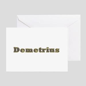 Demetrius Gold Diamond Bling Greeting Card