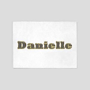 Danielle Gold Diamond Bling 5'x7' Area Rug