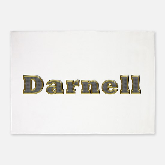 Darnell Gold Diamond Bling 5'x7' Area Rug