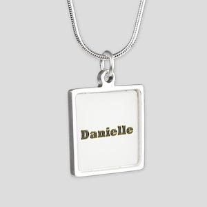 Danielle Gold Diamond Bling Silver Square Necklace