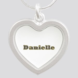 Danielle Gold Diamond Bling Silver Heart Necklace