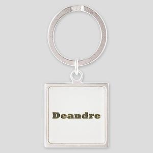 Deandre Gold Diamond Bling Square Keychain