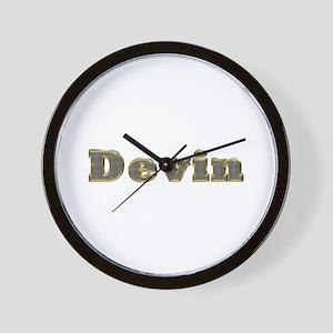 Devin Gold Diamond Bling Wall Clock