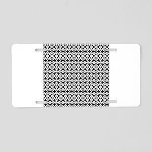 Trellis Fleur de lis Aluminum License Plate
