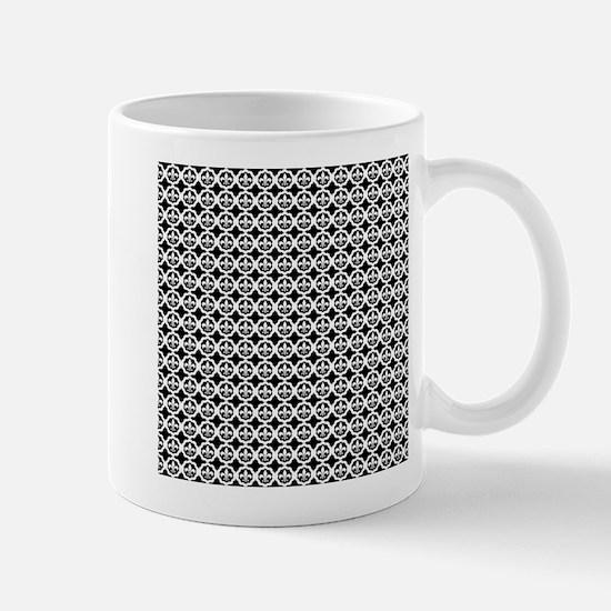 Trellis Fleur de lis Mugs