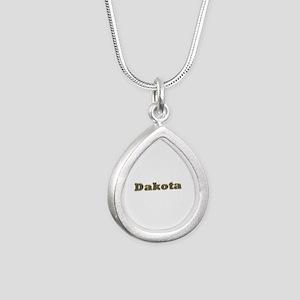 Dakota Gold Diamond Bling Silver Teardrop Necklace