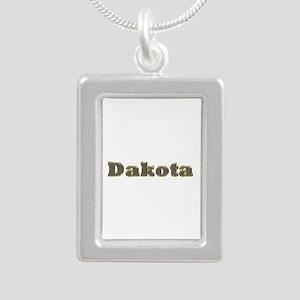Dakota Gold Diamond Bling Silver Portrait Necklace