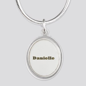 Danielle Gold Diamond Bling Silver Oval Necklace