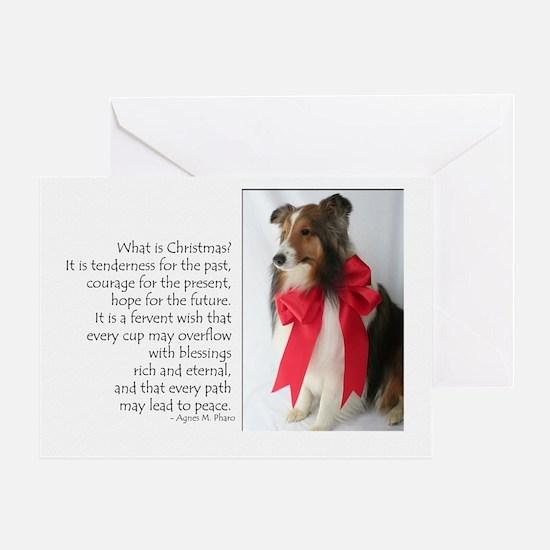 Peace & Joy Sheltie Card