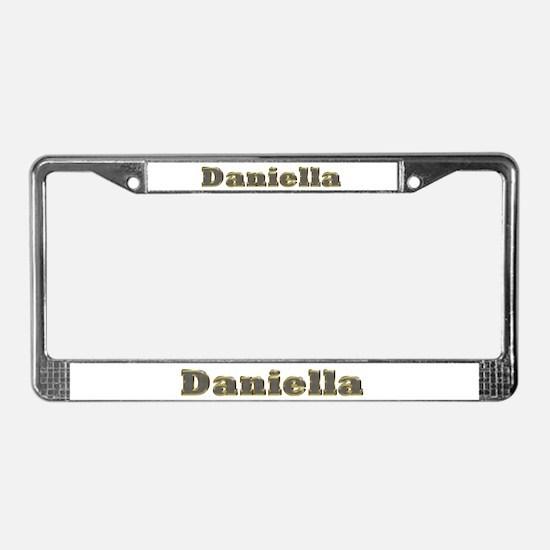 Daniella Gold Diamond Bling License Plate Frame