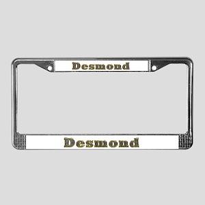 Desmond Gold Diamond Bling License Plate Frame
