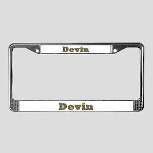 Devin Gold Diamond Bling License Plate Frame