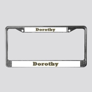Dorothy Gold Diamond Bling License Plate Frame