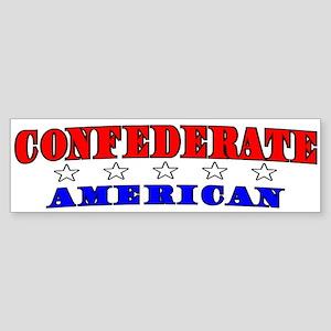 Confederate American Bumper Sticker