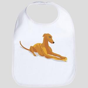 greyhound drawing Bib