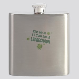 KISS ME OR ILL TURN INTO A LEPRECHAUN Flask