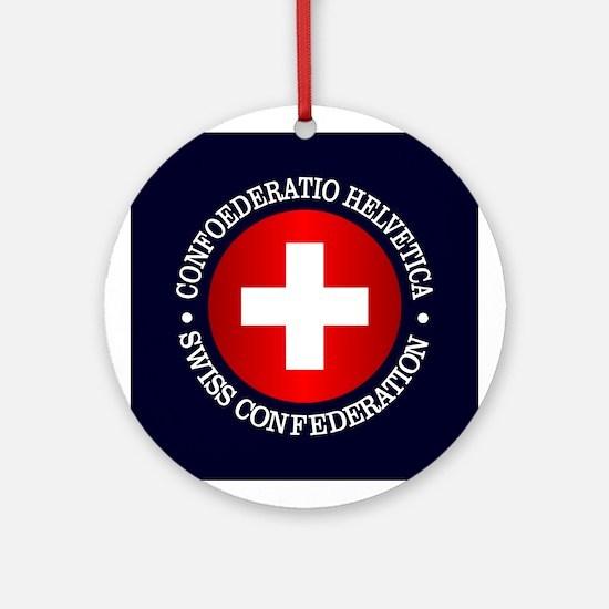 Swiss (rd) Ornament (Round)