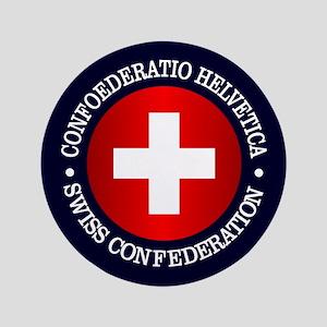 """Swiss (rd) 3.5"""" Button"""