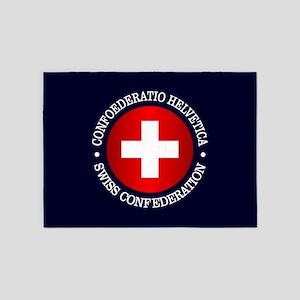 Swiss (rd) 5'x7'Area Rug