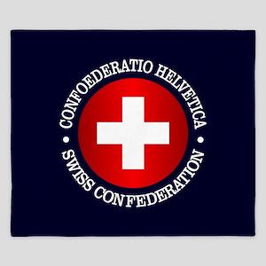 Swiss (rd) King Duvet