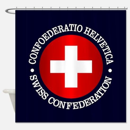 Swiss (rd) Shower Curtain